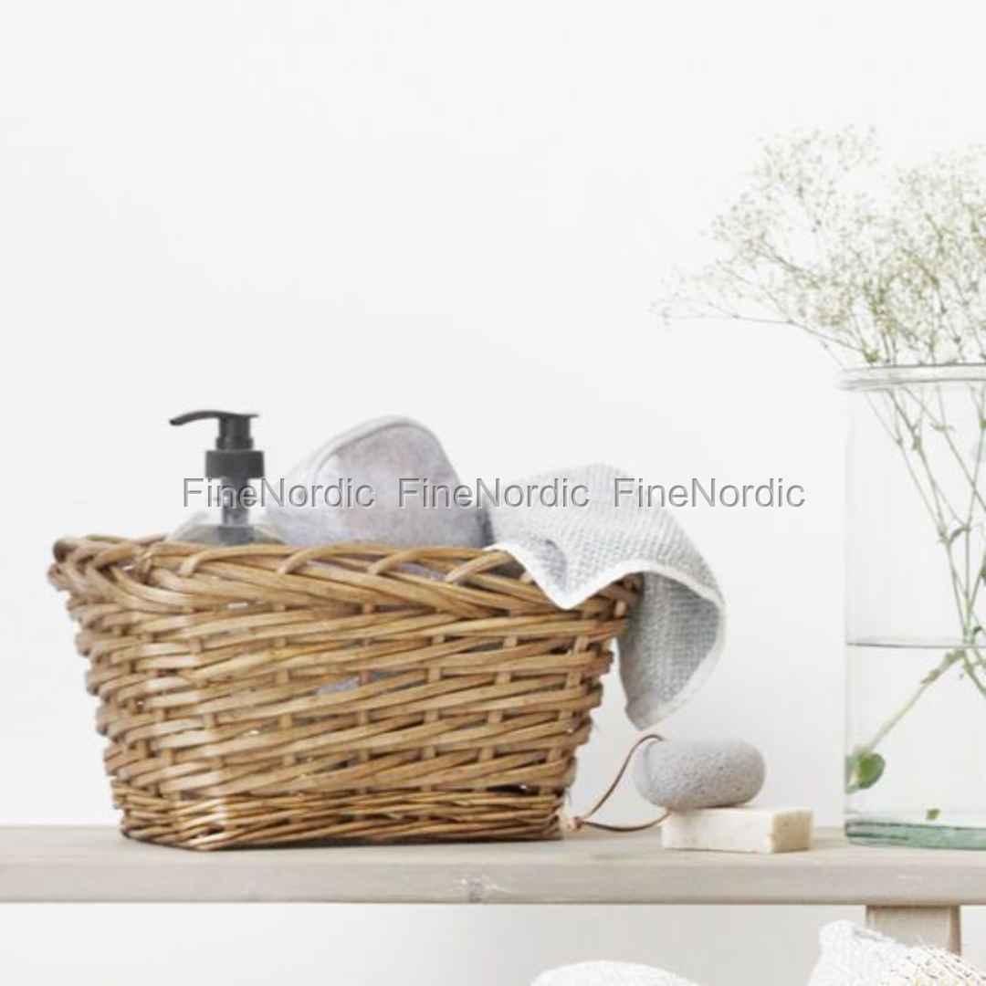 house doctor korb nature rechteckig niedrig small. Black Bedroom Furniture Sets. Home Design Ideas
