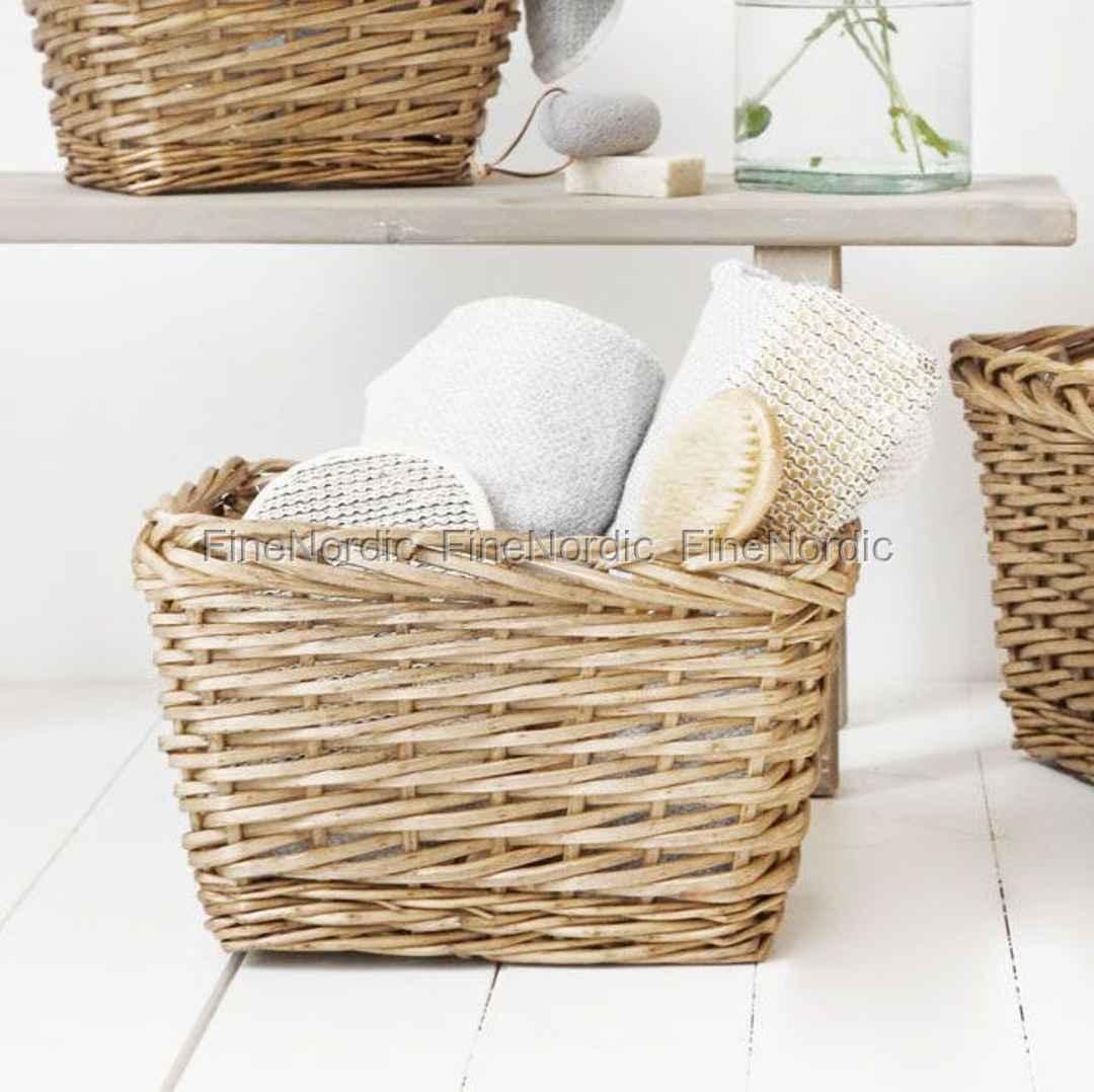 house doctor korb nature rechteckig niedrig medium. Black Bedroom Furniture Sets. Home Design Ideas