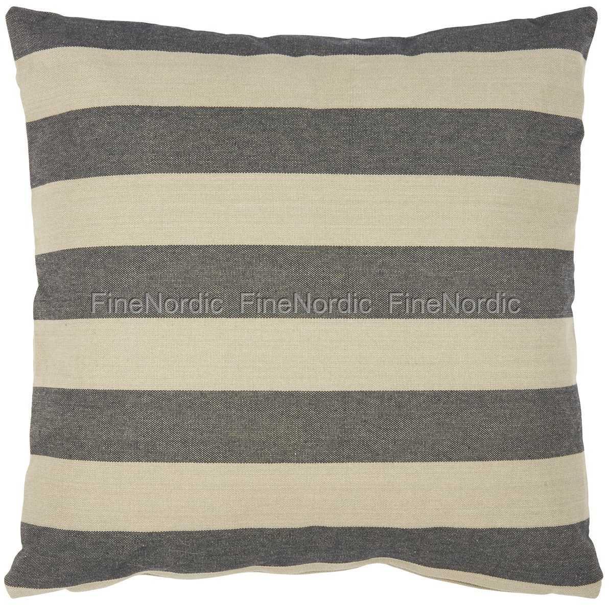 ib laursen kissenbezug breite schwarze streifen 50 x 50 cm. Black Bedroom Furniture Sets. Home Design Ideas