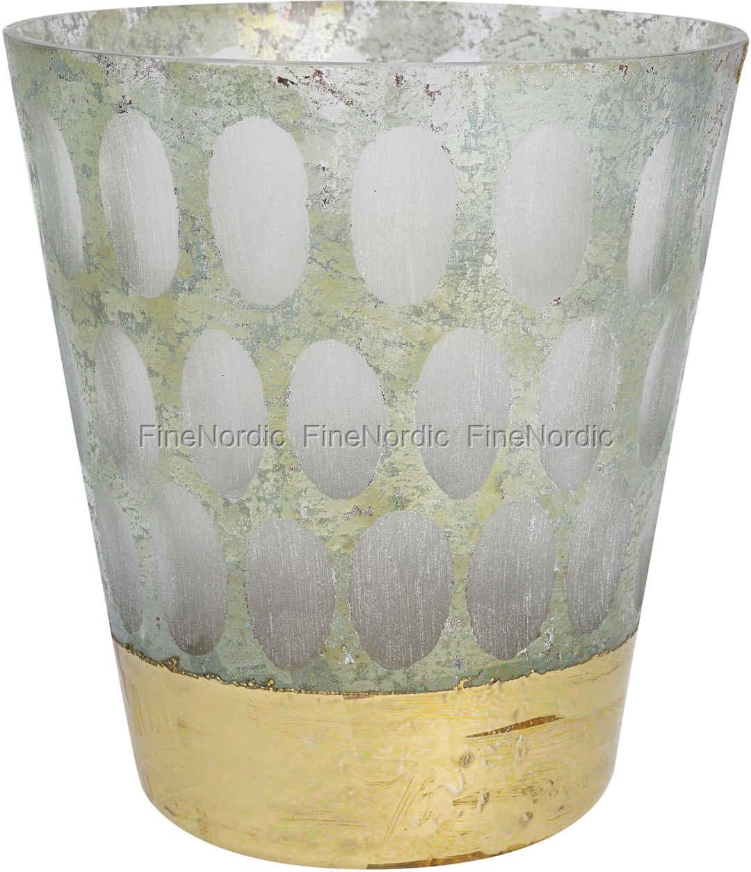greengate blumentopf pot grey with gold. Black Bedroom Furniture Sets. Home Design Ideas
