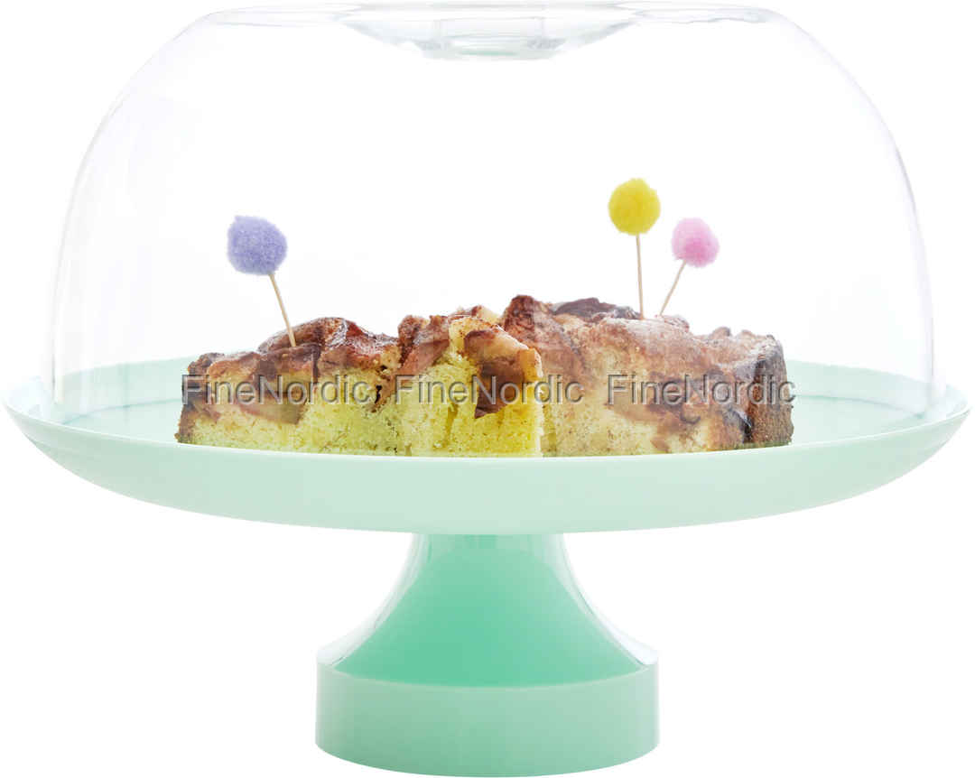 Rice Cake Stand with Dome - Pastel Green