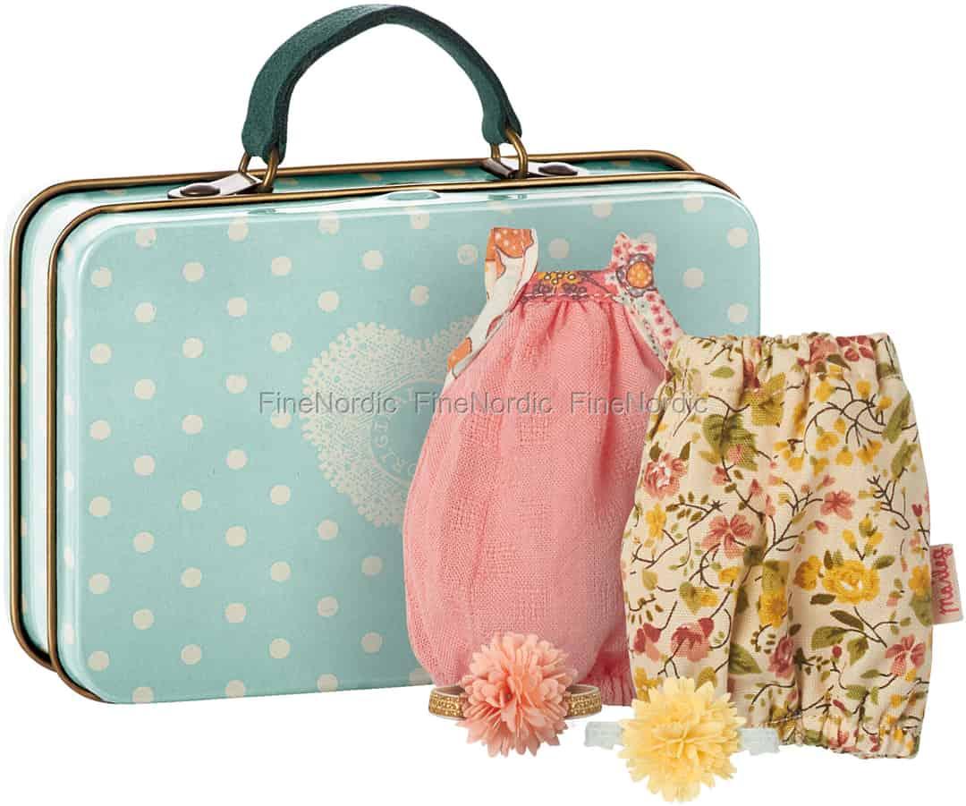 Maileg Kaninchen Micro Koffer mit 2 Kleider