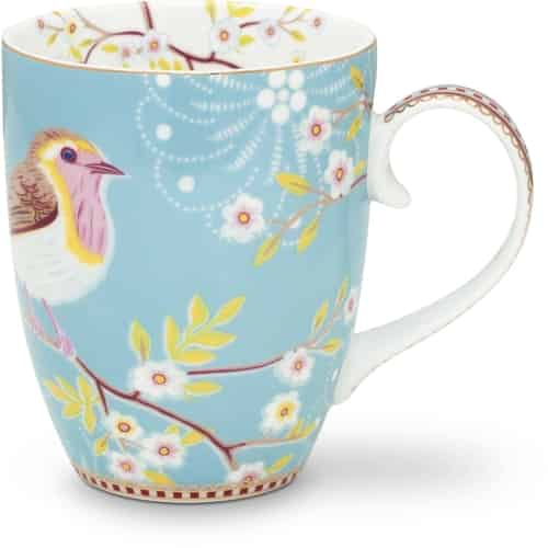 Pip Studio Floral Tasse Gross Early Bird Blue