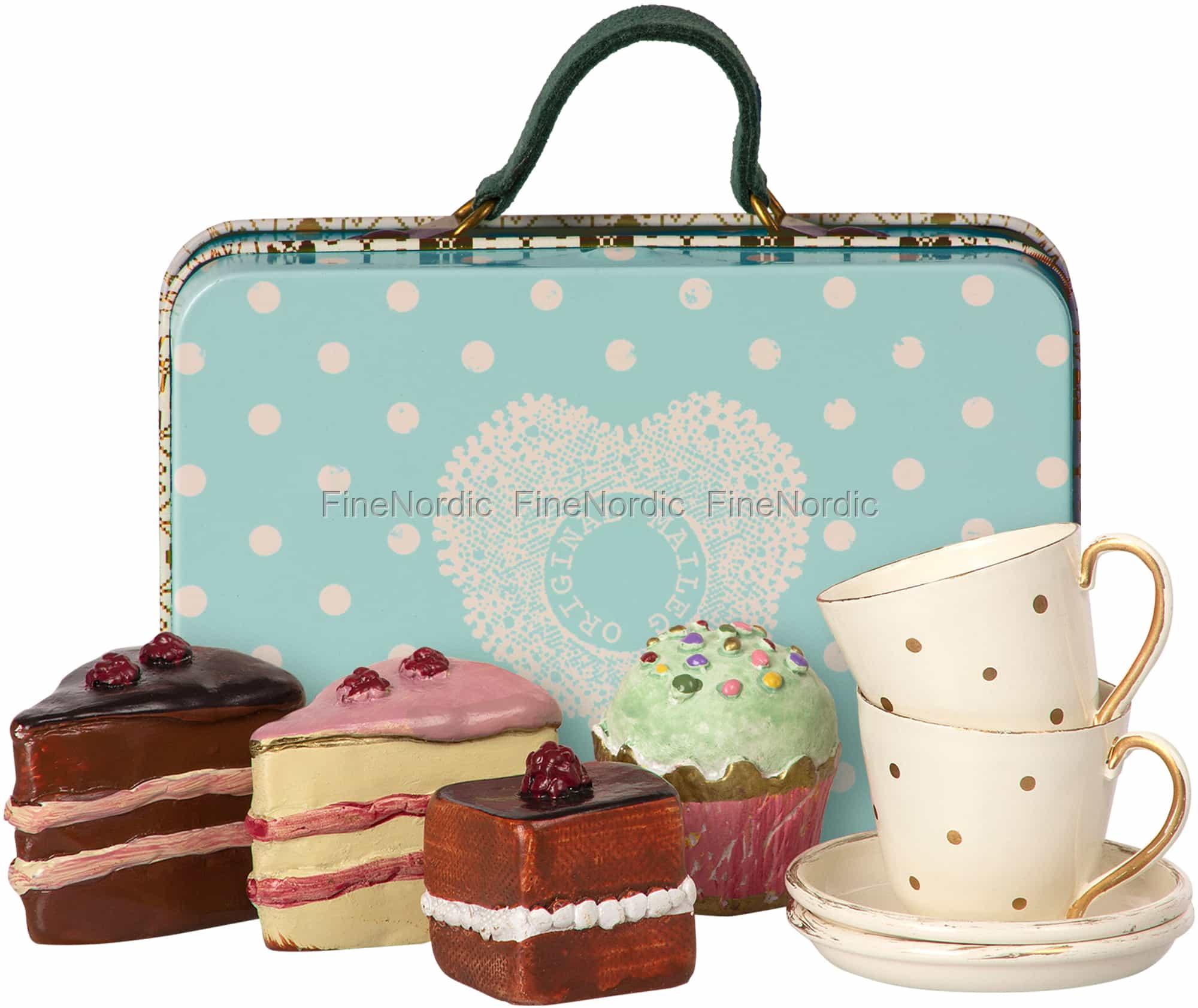 Maileg Kaninchen Zubehor Koffer Mit Kuchen Geschirr Zum 2