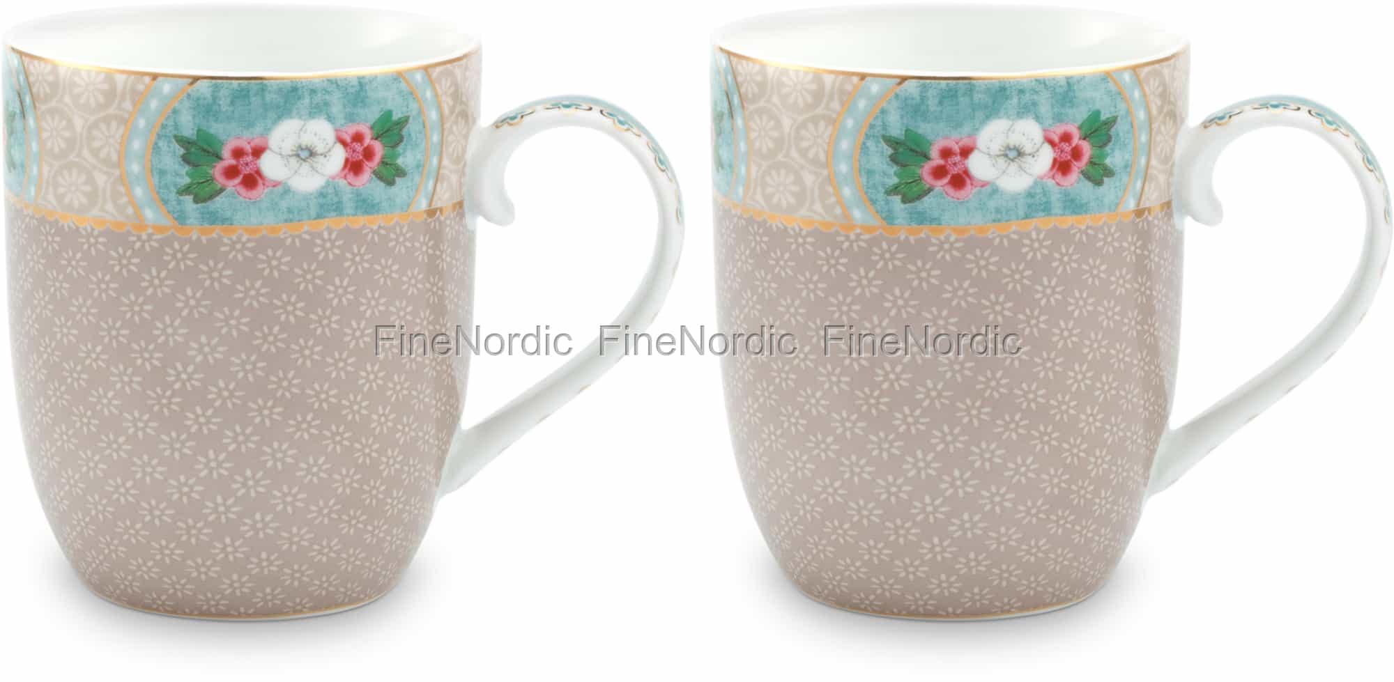 Pip Studio Tassen : pip studio tassen small blushing birds khaki 2er set ~ Watch28wear.com Haus und Dekorationen