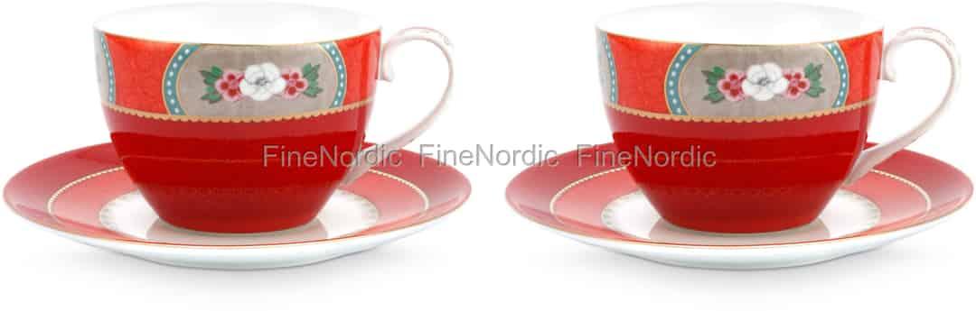 Pip Studio Tassen : pip studio tassen untertassen blushing birds red 2er set ~ Watch28wear.com Haus und Dekorationen