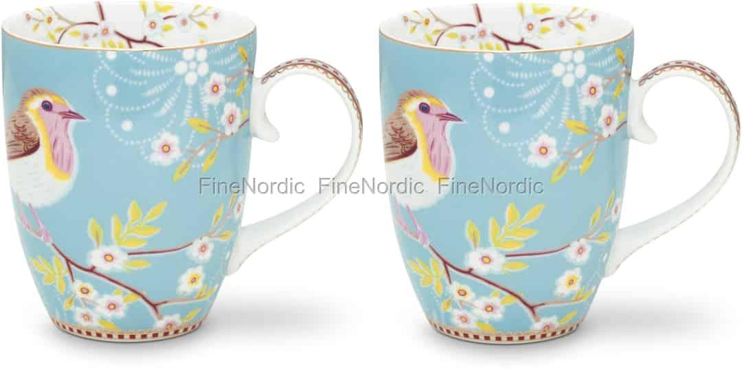 Pip Studio Tassen : pip studio tassen large early bird blue 2er set im geschenkbox ~ Watch28wear.com Haus und Dekorationen